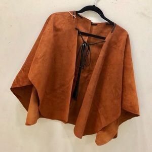 Leather Poncho